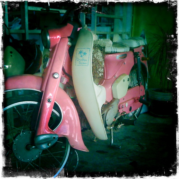 Raw moped power....