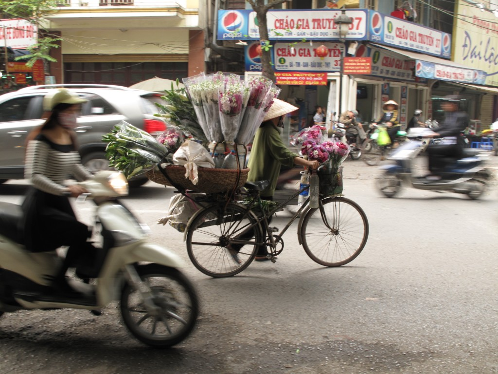 Flower seller, Hanoi